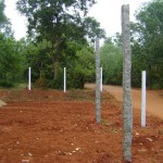 between Arka and Graia -  private land development on crown road