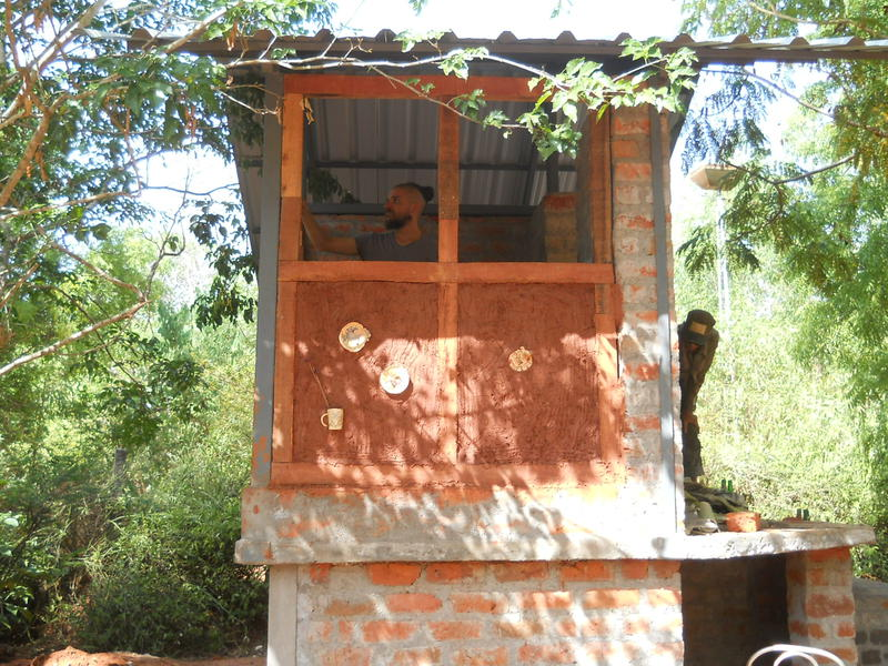 Photographer:Renu | The new Composting Toilet with Mud walls