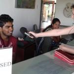 Kavi gettining interviewed by Tara