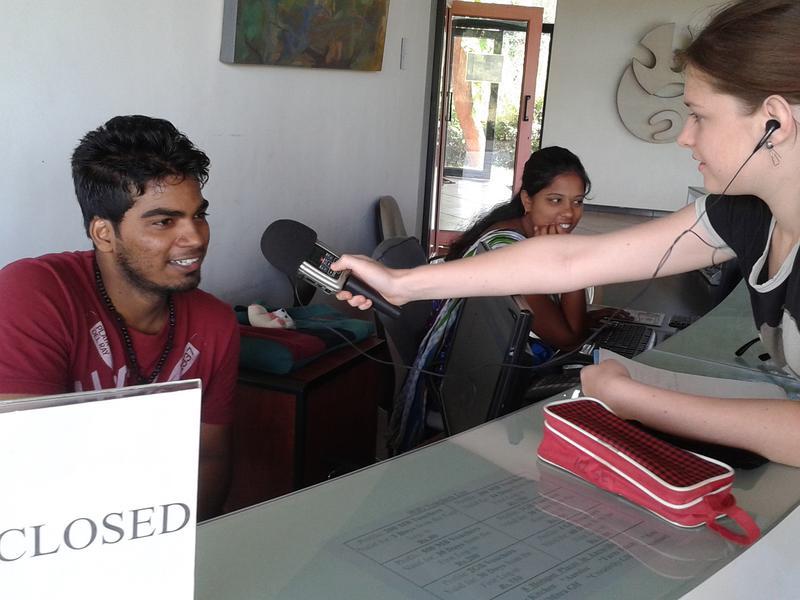 Photographer:Auroson | Kavi gettining interviewed by Tara