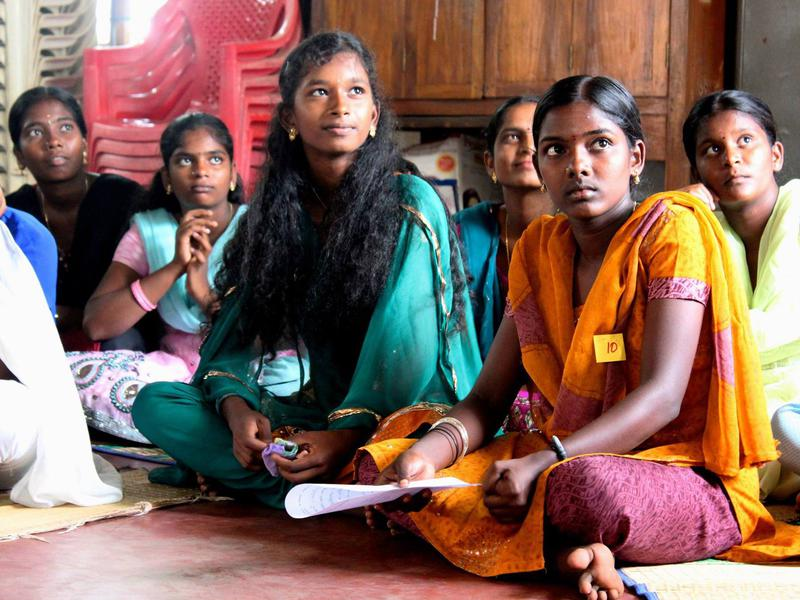 Photographer:Auroville Village Action | Bright faces of the future