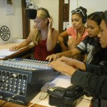 Working with the mixing desk