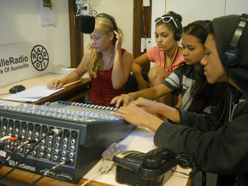 Photographer:Andrea | Working with the mixing desk