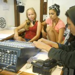 In the Auroville Radio studio