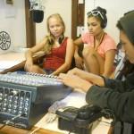 In the Auroville Radio studio