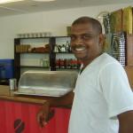 Selvam at Dreamer's Cafe at the Visitor Center
