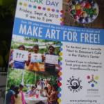 ARt Break Day on 4th of Septmenber at Visitors Centre