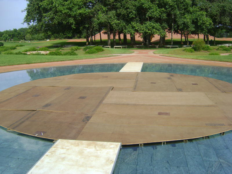Photographer:Amadea | Park of unity in Matrimandir, Scenes from Savitri, 16th 17th at 7pm