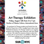 Art Therapy Exhibition, Friday 14th at 5pm at Tibetan Pavilion