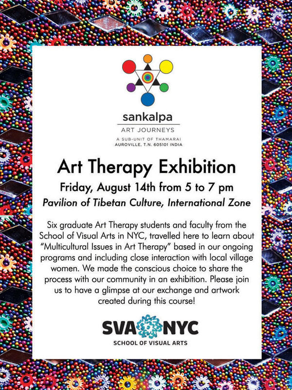 Photographer:web | Art Therapy Exhibition, Friday 14th at 5pm at Tibetan Pavilion