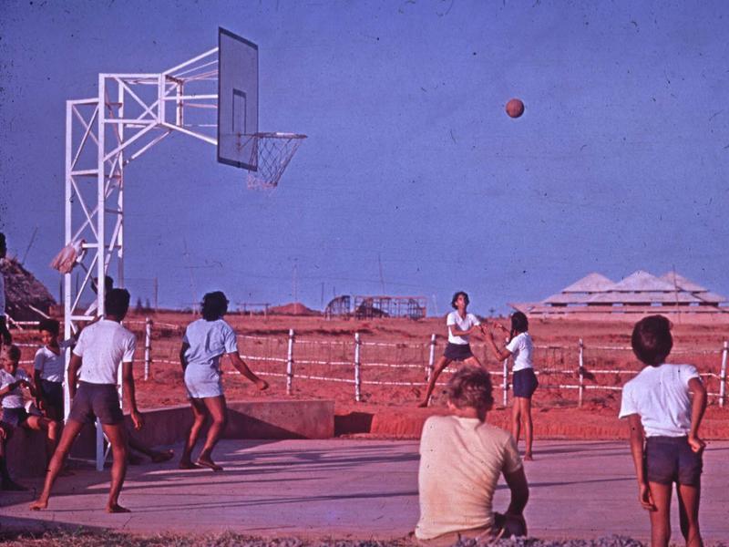 Photographer:Auroville Archives   Sports Ground- Aspiration 1971