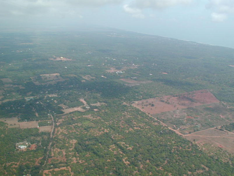 Photographer:Auroville Archives   Auroville from the air 2002