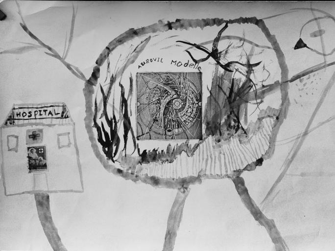 Photographer:Auroville Archives | Drawing