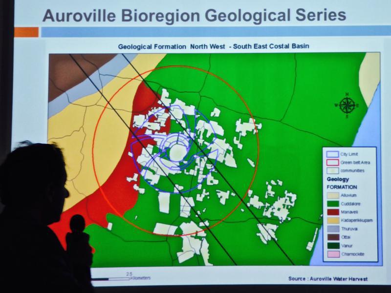 Photographer:Courtesy Joy of Learning | Giulio explaing geological data