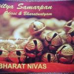 Nritya Samarpan, dance offering on Sat. 5th at 7.30pm at Bharat Nivas