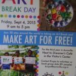 ARt Break Day, Friday 4th -
