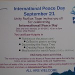 World Peace Day 21st of September at UP and Tibetan Pavilion
