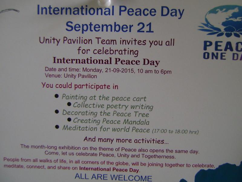 Photographer:web | World Peace Day at Unity Pavilion