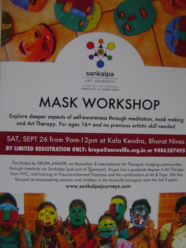 Photographer:web | Mask Workshop by Sankalpa
