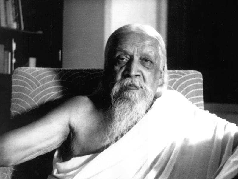 Photographer:Cartier Bresson | Sri Aurobindo in August, 1950