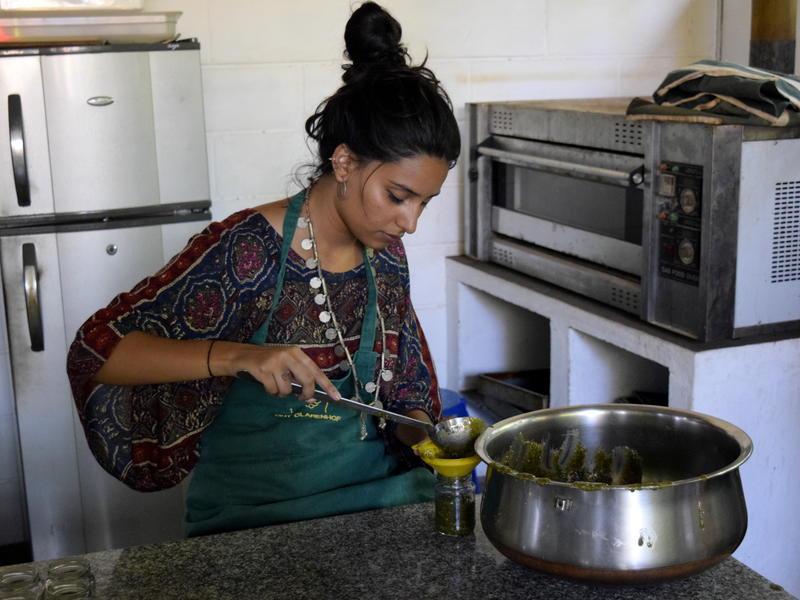 Photographer:Samira Bose | Auroville Radio intern also participates in this process ;)