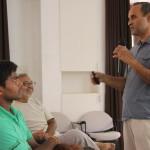 JV Avadhanulu explaining the project