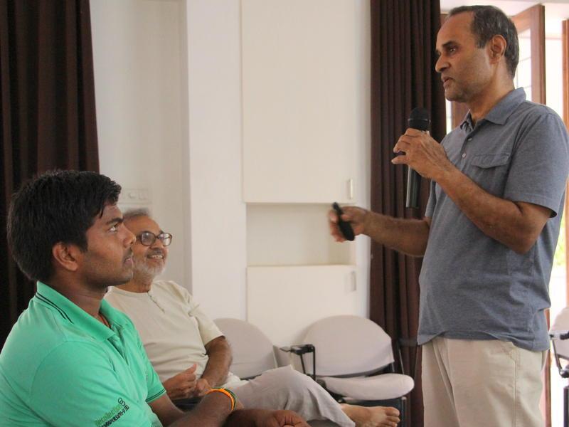 Photographer:Roland | JV Avadhanulu explaining the project