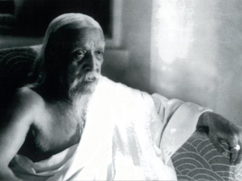 Photographer:Cartier Bresson | Sri Aurobindo, 1950