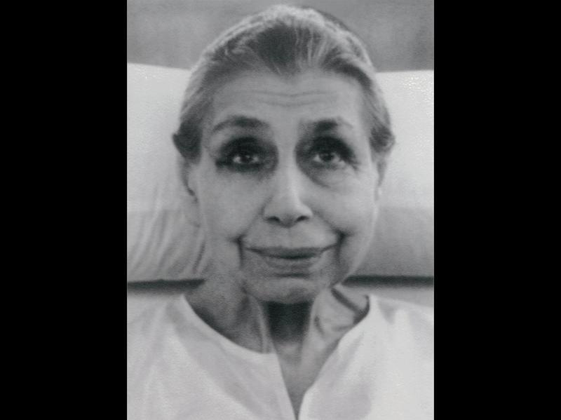 Photographer:Ashram Archives   Mother in her room, 1960s