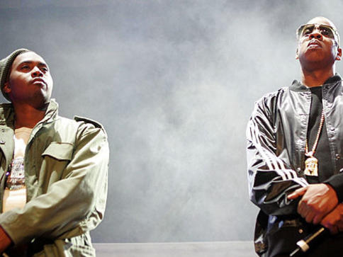 Photographer:Web | NAS and Jay-z performing