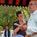 Krishna Mayer and Dr Karan Singh Chairman of the Auroville Foundation.