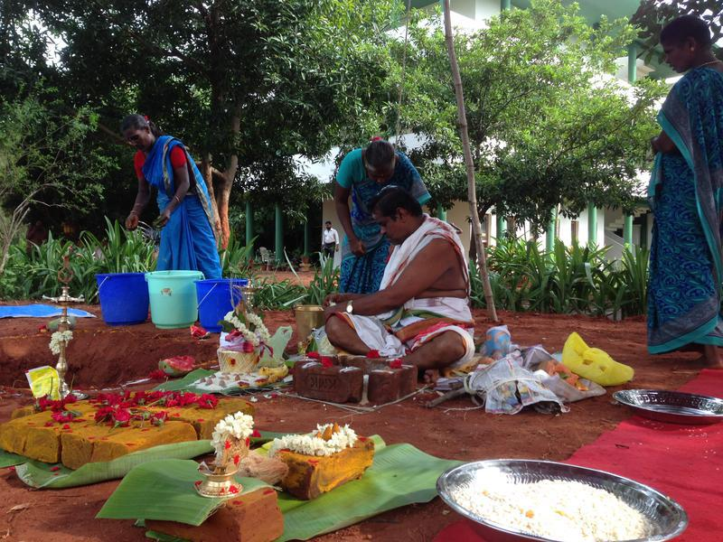 Photographer:Andrea | Preparing the Bhoomi Puja