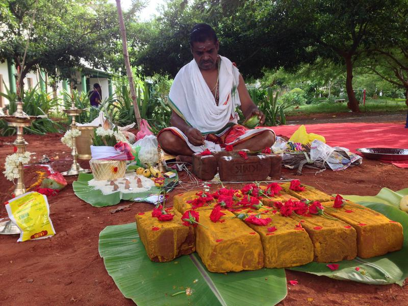 Photographer:Andrea | Performing the Bhoomi Puja