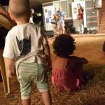 Children enjoy the show