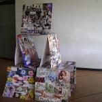 AVFF15 art installation at Town Hall reception desk