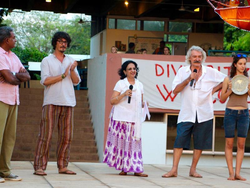 Photographer:Roland | From left: Shanki Mahendra, Philippe, Mala Kapadia and Marco