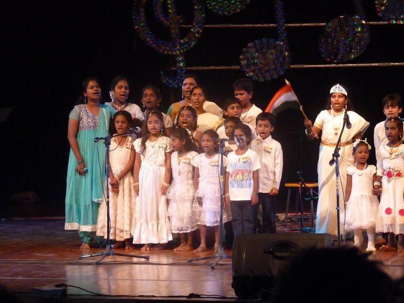Photographer:Yahalom | Udavi school's chirldren singing: Hum bache hein dil ke bade sache hein