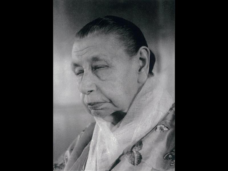 Photographer:Ashram Archives | Mother in Meditation