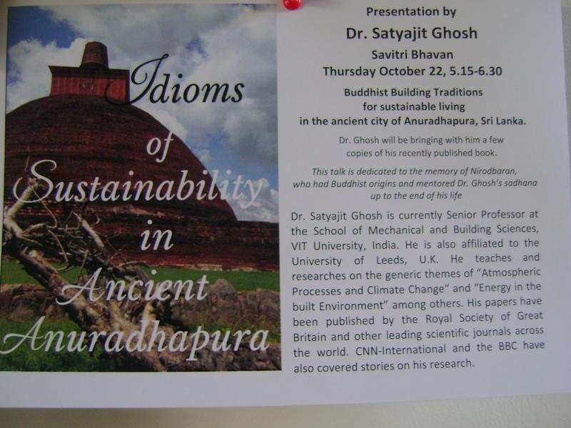 Photographer:Biliana | 22nd at Savitri Bhavan presentation of Dr. Stayajit Ghosh
