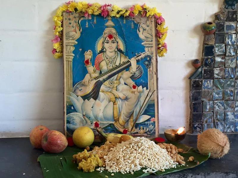Photographer:Adil | Saraswathi Puja in Auroville