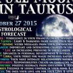 Full - super Moon in Taurus 27th