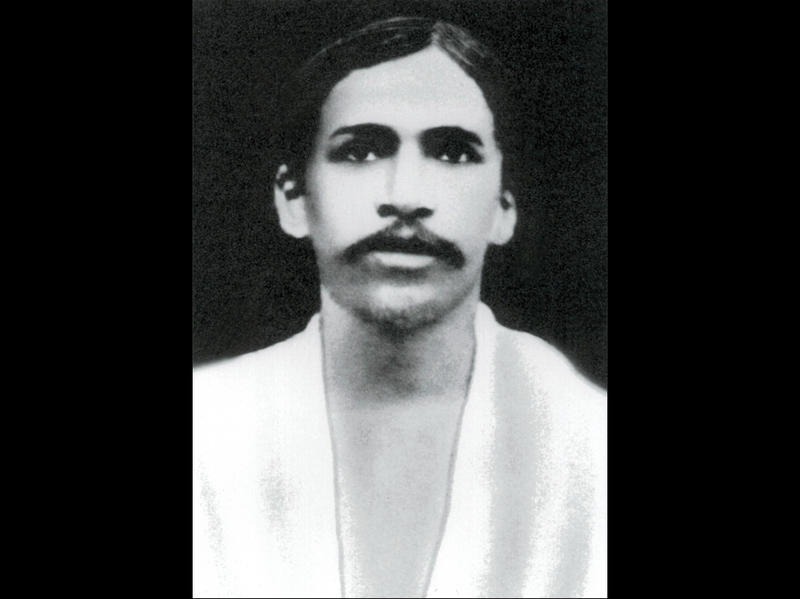 Photographer:Ashram Archives | Sri Aurobindo, 1910, First photo after coming to Pondicherry.