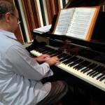 Maestro Stefano Ragni at the piano