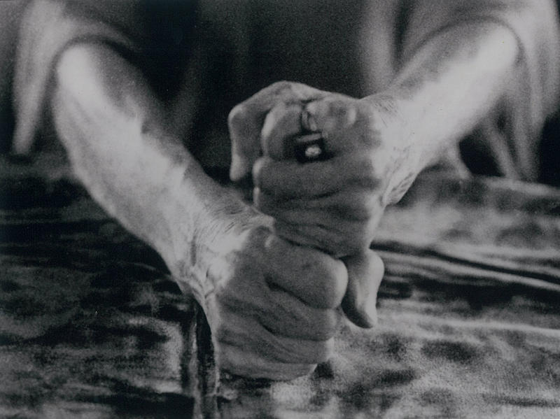 Photographer:Ashram Archives | Truth Must Conquer And Dominate Falsehood, Mother's Hands, Photo named By Mother, 15-8-64