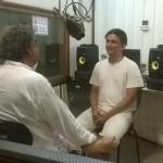Niranjan Goswami with Drupad in AV Radio Studio