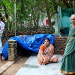 Venkatesh (with his family) is one of the Auroville workers affected by the flood
