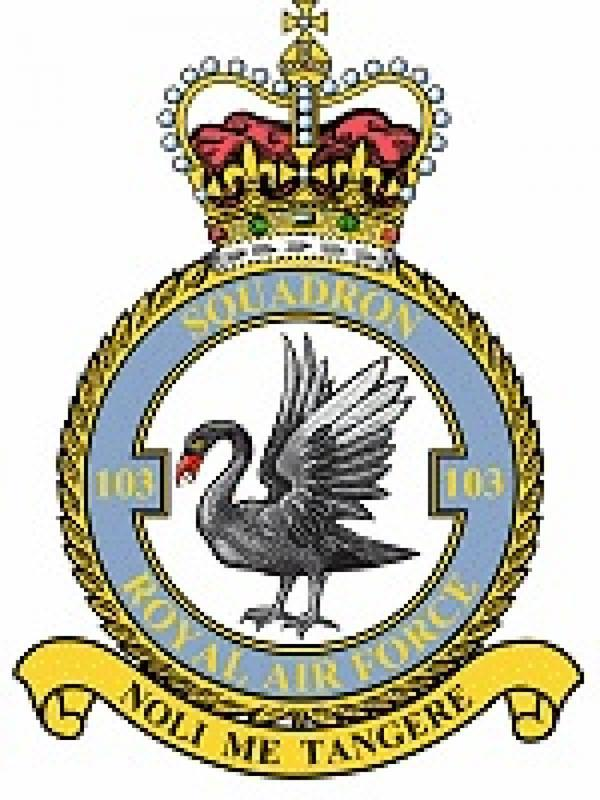 Photographer:wikipedia | Insignia for 103 squadron that Reggie served in