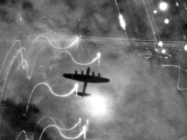 Photographer:wikipedia | lancaster bomber flying over Germany