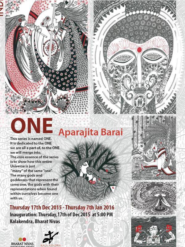 Photographer:Barbara   ONE at Kala Kendra inauguration today at 5pm by Aparajita Barai