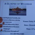 Presentation on Mnajmar 18th at 5pm at Unity Pavilion